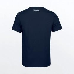 T-SHIRT HEAD Padel Font Bleu Marine