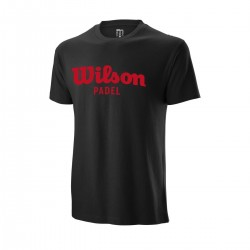 T-shirt Wilson Padel Script Cotton Noir