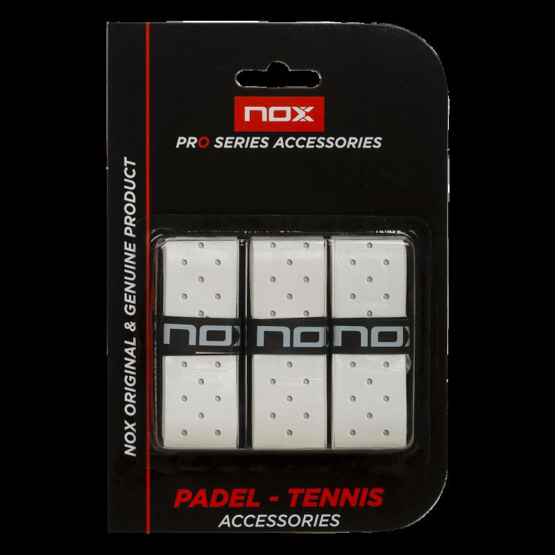 NOX Overgrip Pádel Pro Perforado En Blanco